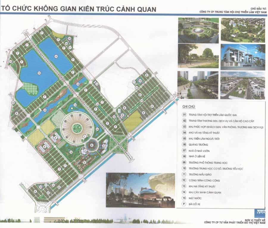 Quy hoạch dự án Trung tâm triển lãm Việt Nam – Đông Anh