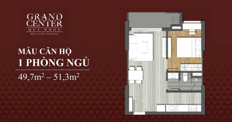 Thiết kế chi tiết căn hộ 1 phòng ngủ dự án Takashi Ocean Suite Quy Nhơn
